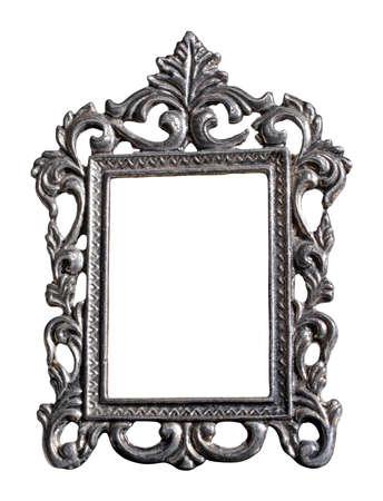 Photo pour Photo frame isolated, matte metal. - image libre de droit