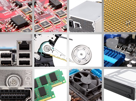 collage of different persona computer components.