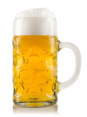 a glas of fresh beer