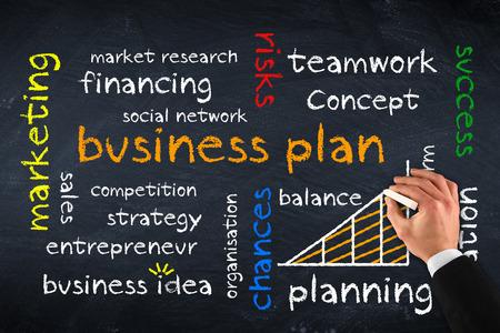 business plan on chalk board