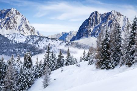 wonderfull snow mountain landscape