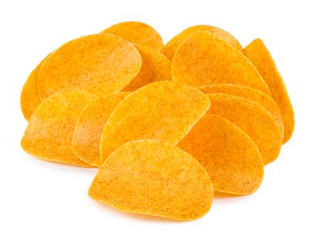 Haufen von Kartoffelchips