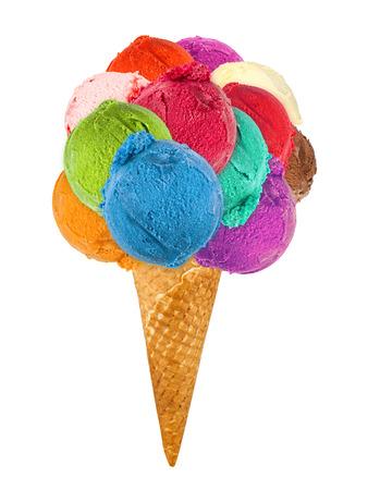 Photo pour big ice cream cone - image libre de droit