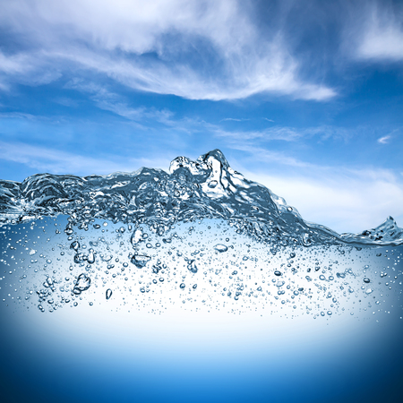 Photo for water wave with blue sky - Royalty Free Image