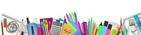 Photo for school / office supplies on white background - Royalty Free Image