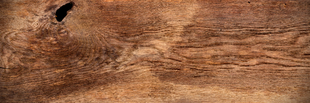 Photo for old wide panorama brown retro oak wood texture background pattern  - Royalty Free Image