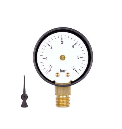 manometer isolated on white background