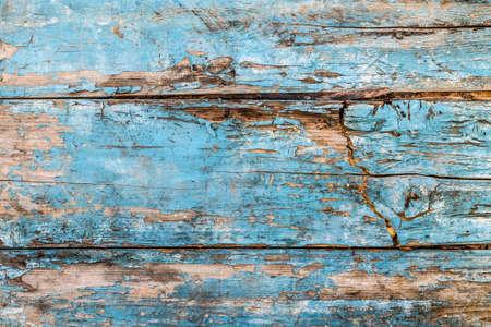 Photo pour Decrepit blue old wood background - image libre de droit