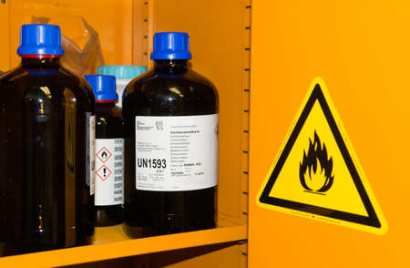 Flammable Chemicals in Protection Cabinetの素材 [FY31058199582]
