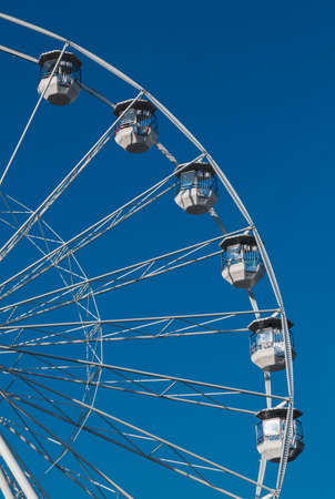 Photo for White Ferris Wheel In Brno In The Czech Republic - Royalty Free Image