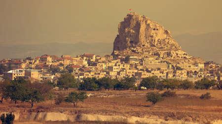 View of Cappadocia Uchisar castle