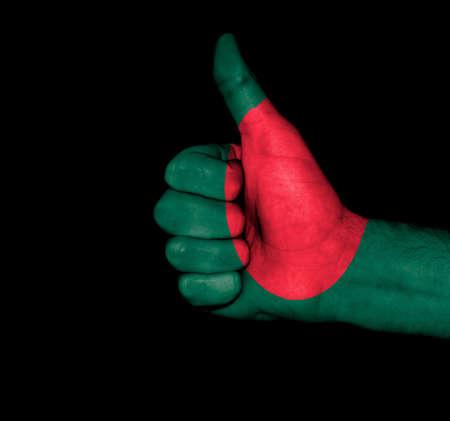 Flag of Bangladesh on hand