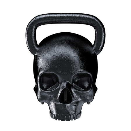 Foto für Kettlebell skull metal  3D render of heavy skull shaped kettlebell - Lizenzfreies Bild