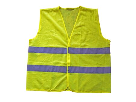 Fluorescent vest or waistcoat, isolated on white
