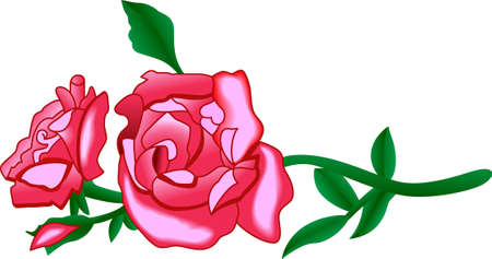 Use these lovely roses on a skirt hem or on a set of kitchen linens.