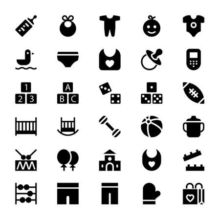 Glyph icons for baby and kids.