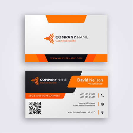 Illustration for Professional Business Card Template - Vector - Royalty Free Image