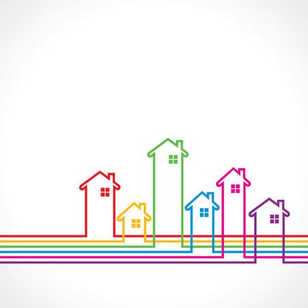 Illustration pour Real Estate bakground for sale property concept stock vector - image libre de droit