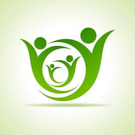 Eco people celebration icon design vector