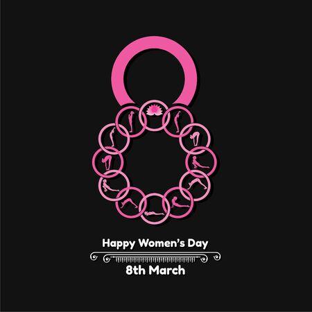 Illustration pour Illustration for International Womens day- 8 March - image libre de droit