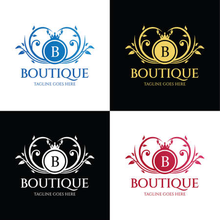Illustration for Boutique logo. Fashion Brand Icon. Vector illustration - Royalty Free Image