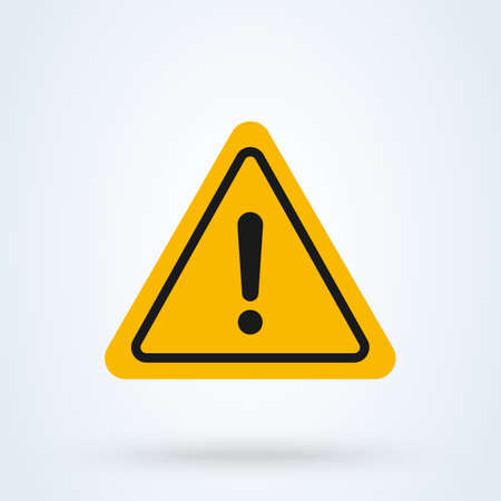 Illustration pour Hazard warning Simple vector modern icon design illustration. - image libre de droit