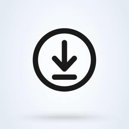 Illustration pour Download and install Simple vector modern icon design illustration. - image libre de droit