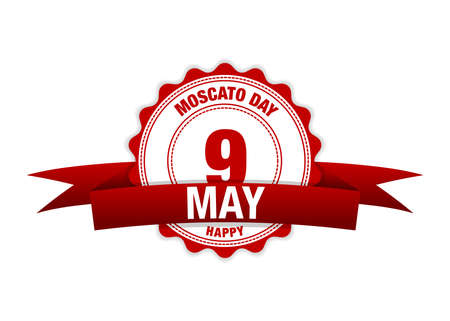 Illustration for Moscato day May 9. Moscato, is one of the oldest known variety of grapes grown in the world - Royalty Free Image