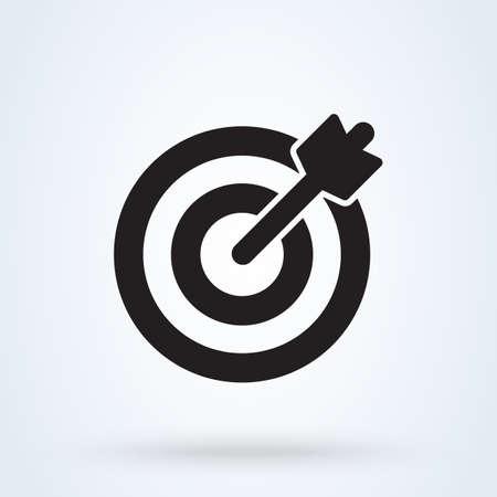 Illustration pour Target and arrow icon. vector Simple modern  design illustration. - image libre de droit