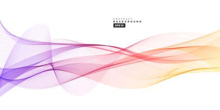Illustration pour Colorful gradient abstract line wave background for multipurpose usage like brochure, cover, flyer. - image libre de droit