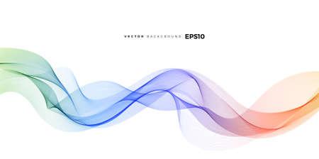 Illustration pour Wave vector element with abstract colorful gradient lines for website, banner and brochure, Curve flow motion illustration, Vector lines, Modern background design. - image libre de droit