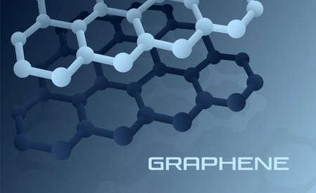 Illustration pour Graphene atomic structure - image libre de droit