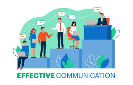 Photo pour Vector illustration of effective communication within a team - image libre de droit