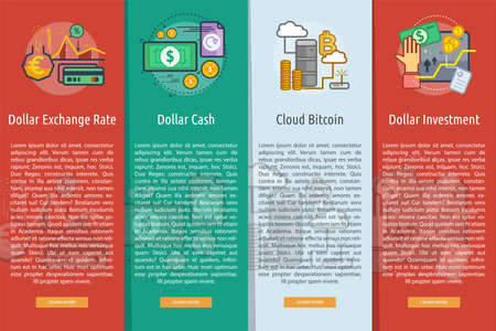 Currencies Vertical Banner Concept