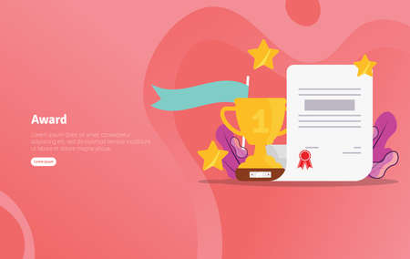 Award School Concept Educational And Scientific Illustration Banner Suitable For Wallpaper Banner Background Card Book Illustration Or Web Landing Page And Use For Marketing Business Or Promotion Royalty Free Vector Graphics
