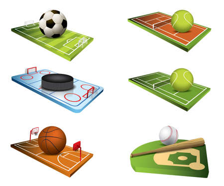 Vector sport fields icons