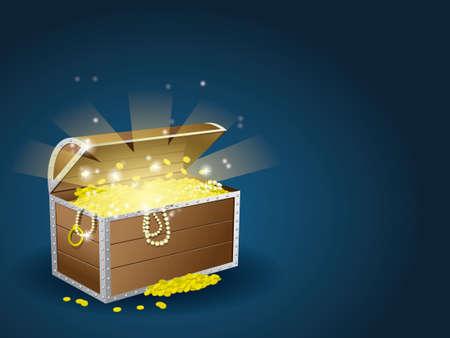Illustration pour Treasure chest - image libre de droit