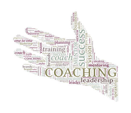 Helping Hand Word Cloud - Coaching Concept