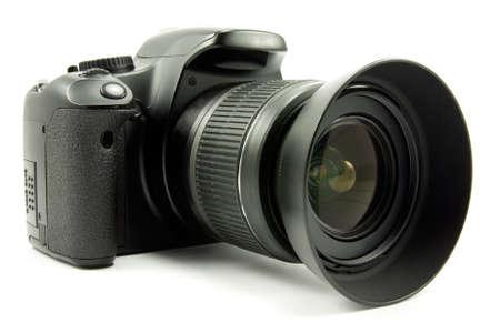 digital photo camera isolated on white background