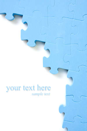 blue puzzle background  with space for your text