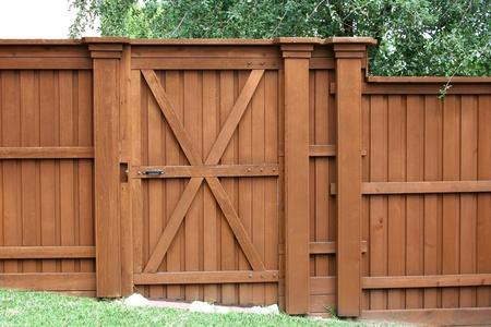Gate in a cedar fence