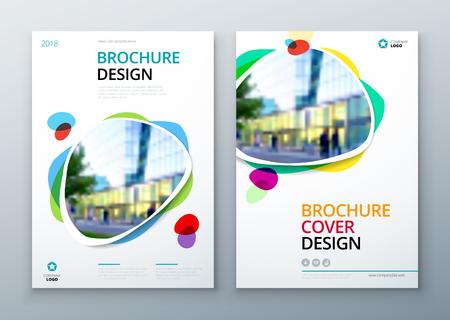 Illustration pour Brochure template layout design. Bright color brochure, catalog, magazine or flyer mockup. - image libre de droit