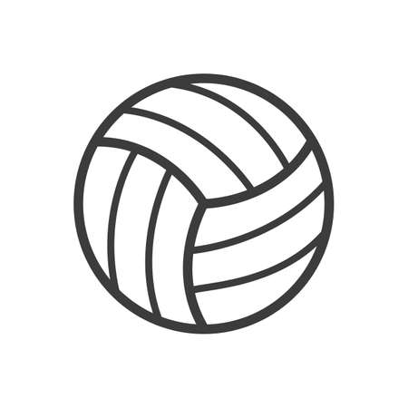 Volleyball ball icon. Volleyball ball Vector isolated on white background.