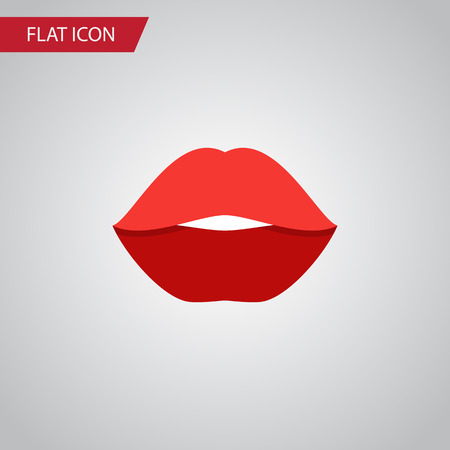 Isolated Rouge Flat Icon. Mouth Vector Element Can Be Used For Rouge, Lips, Mouth Design Concept.