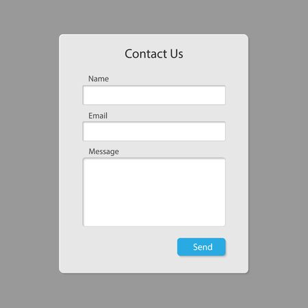 Illustration for Contact form page template isolated . Template for your design - Royalty Free Image