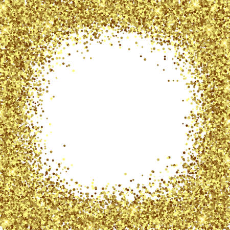 Illustration for Gold Foil Glitter Texture Isolated Template for your design - Royalty Free Image