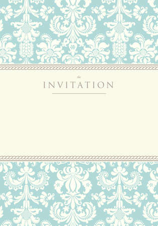 Ornate damask background  Invitation to the wedding or announcements