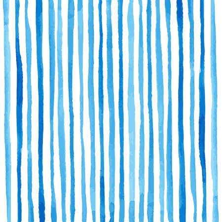 Illustration pour Watercolor stripes pattern. Drawing by hand. Vector illustration - image libre de droit