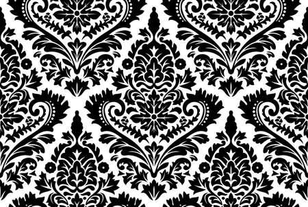 Photo pour Vector seamless damask pattern. Ornate vintage background - image libre de droit