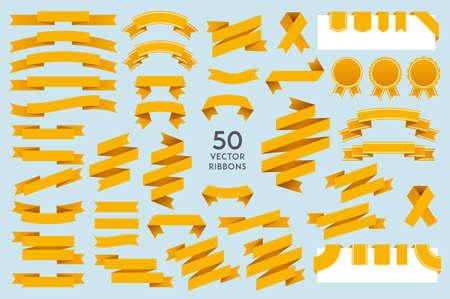 Ilustración de Vector Ribbons. Set of 50 ribbons - Imagen libre de derechos